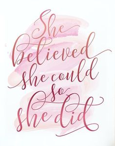 Quotes for Motivation and Inspiration QUOTATION - Image : As the quote says - Description Gift for her, Wall art, PRINTABLE art, She believed she could, The Words, Citations Photo, Favorite Quotes, Best Quotes, Daily Quotes, Great Inspirational Quotes, Motivational Monday, Inspirational Quotes Background, Monday Quotes