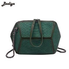 Geometric Stitching Alligator Fashion Women Shell Shoulder Bags Chains Belt Small Messenger Bags PU Leather New Female Handbag