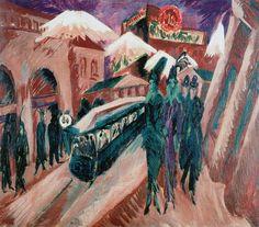 [ K ] Ernst Ludwig Kirchner - Leipziger Strasse mit elektrischer Bahn (1914) | Flickr - Photo Sharing!