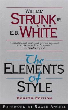 The Elements of Style, Fourth Edition by William Strunk Jr.,http://www.amazon.com/dp/020530902X/ref=cm_sw_r_pi_dp_RwYttb0KXR7WXR20