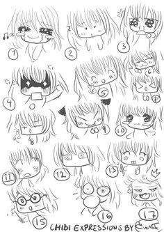 Chibi expressions by miyakies.deviantart.com on @deviantART