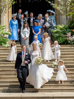 Royal Family arrives at Lady Gabriella Windsor's royal wedding at St. Royal Brides, Royal Weddings, Lord Frederick Windsor, Wedding Season, Wedding Day, Prince Michael Of Kent, Bridal Party Poses, Carole Middleton, Eugenie Of York