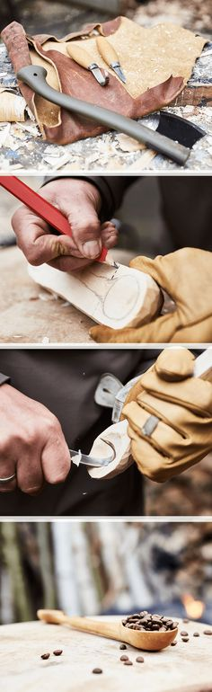Step by step guide to carving: create a wooden spoon yourself with Dremel. Woodcarving at its finest.