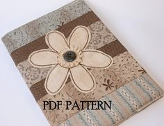 This item is for a PDF pattern that includes all the instructions needed to create your very own journal cover. The finished size of the journal