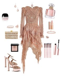 """""""Untitled #583"""" by ginagabriela on Polyvore featuring Zimmermann, Edie Parker, TARA Pearls, Naomi Sarna, Anne Sisteron, Bloomingdale's, Gregg Ruth, Bobbi Brown Cosmetics, Guerlain and Marc Jacobs"""