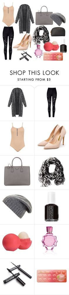 """""""Casual lunch date"""" by bluebears02 on Polyvore featuring WithChic, Rupert Sanderson, Prada, Calvin Klein, BCBGMAXAZRIA, Essie, Eos, Oscar de la Renta, Too Faced Cosmetics and MICHAEL Michael Kors"""
