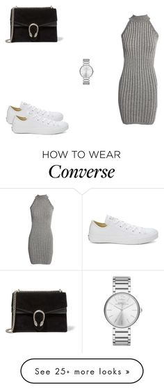 """190 outfit"" on Polyvore featuring Boohoo, Converse, Gucci and Marc Jacobs"