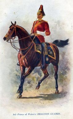 Harry Payne Postcard,3rd Dragoon Guards,British Army