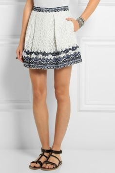 SEA Embroidered lace mini skirt NET-A-PORTER.COM, How would you style this? http://keep.com/sea-embroidered-lace-mini-skirt-net-a-portercom-by-chelsea21/k/z-Ym-YgBMa/
