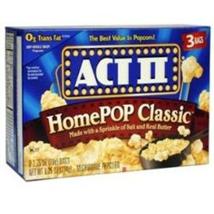 I'm learning all about Act Ii Homepop Classic Natural Flavor Popcorn at @Influenster!