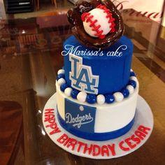 Dodgers birthday cake. Visit us Facebook.com/marissa'scake.