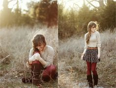 maroon tights & fringed moccasin boots. I absolutely ADORE this!