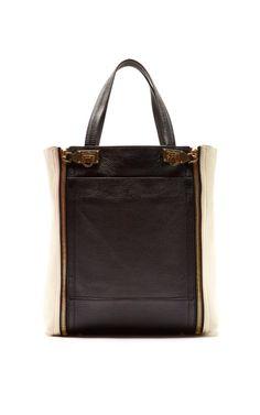 Shop Suzanne Two-Tone Leather Tote Bag by Salvatore Ferragamo Now Available on Moda Operandi