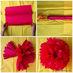 1-#tissue paper #pom pom #tutorial-001