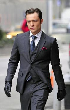 3 piece suit/leather gloves/not optional broodiness