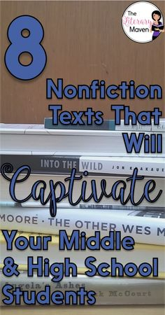 At any grade level, it is easy for English class to be solely a study of fictional literature, but students should be equally immersed in rich nonfiction as well. Read on for nonfiction recommendations, many of them memoirs and biographies, that will captivate your middle and high school students.