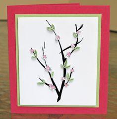 blossom card, diy crafts, paper, cherri blossom, greeting cards
