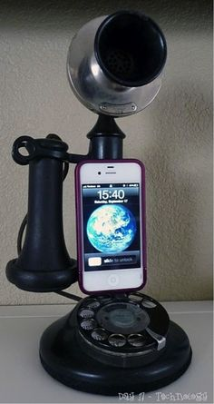 Cool old fashion phone by using with your iPhone for calls....