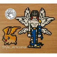Patamon Digimon hama beads by style_artesanal