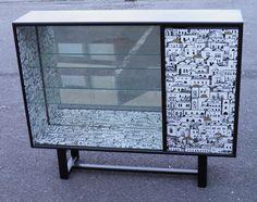 IPPLEPEN INTERIORS : Retro Glazed Bookcase – Ipplepen Interiors