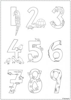 Numbers 1 10, Math Numbers, Pre School, Raha, Kindergarten, English, Count, Kids, Coloring