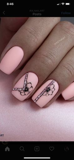 48 Beautiful Short Square Nails for Your Fingers - Lily Fashion Style Cute Acrylic Nails, Cute Nails, Pretty Nails, Gel Nails, Nail Polish, Classy Nails, Stylish Nails, Short Square Nails, Nails Design With Rhinestones
