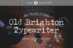 Old Brighton Typewriter - Font - Serif