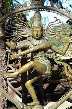 Shiva Nataraja— Gods are usually depicted with multiple arms, with some sort of odd pose, arms extended out. The head pieces are usually extravagant and large showing power. I just like the look of it and the ring around the sculpture.