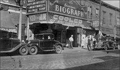 Biograph theatre just before Dillinger's death, 1934. Photo made by FBI (http://www.fbi.gov/libref/historic/famcases/dillinger/biograph.jpg)