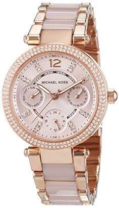 Michael Kors Watches : Michael Kors Parker Rose Dial Rose Gold SS Chrono Quartz Ladies Watch >>> Continue to the product at the image link. - Watches Topia - Watches: Best Lists, Trends & the Latest Styles Michael Kors Rose Gold, Michael Kors Watch, Handbags Michael Kors, Tote Handbags, Stainless Steel Bracelet, Stainless Steel Case, Animal Fashion, Earmuffs, Quartz Watch