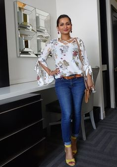 Shop the Look from Five Foot Nothing Shopping on ShopStyleOne of the big trends taking this season by storm is none o. Hot Outfits, Simple Outfits, Spring Outfits, Summer Outfit, Girl Outfits, Fall Fashion Trends, Latest Fashion Trends, Jeans Top Design, Middle Age Fashion