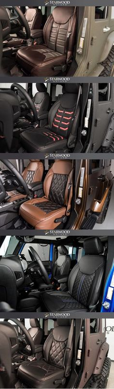 Starwood Motors leather interiors Second to last seat design Jeep Zj, Jeep Willys, Acessórios Jeep Wrangler, Jeep Truck, Jeep Wrangler Unlimited, Jeep Wrangler Interior, Wrangler Accessories, Jeep Accessories, Jimny Suzuki