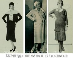 1930s Fashion – Hollywood bids farewell to the Short Skirt  Skirt hems drop dramatically in January 1930 - What did Hollywood most glamorous women think of the new longer skirt fashion of 1930 which heralded the beginning of the austere era? Read more ..............