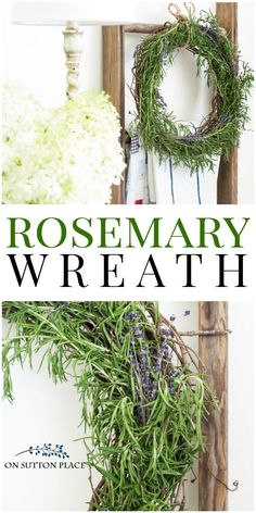 Fresh Rosemary Wreath Tutorial | Super simple steps for making a wreath from fresh rosemary. Anyone can do this! How to make a rosemary wreath.