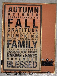 Create with Traci: Poster Tidings embossed card... I would like to make this into a wooden sign for front porch... ~ ALW