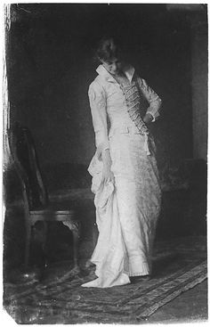 Woman in White Laced-bodice Dress by Thomas Eakins, 1880s