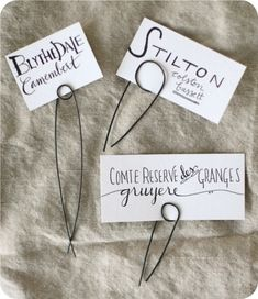 Wire Cheese Markers DIY