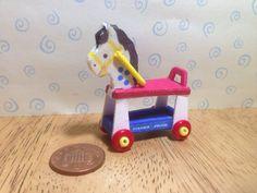 pour OOAK dolls  fait à la main au look vintage réplique fisher prix cheval de l'équitation, échelle 1/12