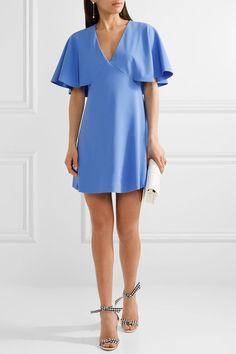 Azure crepe Concealed hook and zip fastening at back 100% polyester; lining: 94% polyester, 6% elastane Dry clean Designer color: Cornflower Blue