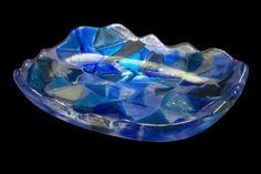 'Triangulos' - peça única e assinada, em vidro artesanal. R$ 359,00 Clique na foto p/ entrar na página da peça e ver mais fotos e informações como tamanho.