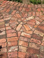 Brick patterned pathway - Love the pattern! With brick your crazy ideas can come true! Especially with Summit Brick :] - Brick patterned pathway - Love the pattern! With brick your crazy ideas can come true! Especially with Summit Brick :] - Brick Pathway, Brick Garden, Walkway, Garden Paths, Garden Edging, Garden Beds, Brick Patios, Brick Patterns, Paving Stones