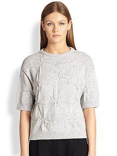 Brunello Cucinelli Crinkle-Knit Cashmere Pullover 2700$