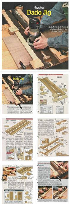 #643 Router Dado Jig Plans - Joinery Tips, Jigs and Techniques http://woodarchivist.com/643-router-dado-jig-plans/ Tags: #Dado, #DadoJoint, #DadoJointJig, #Woodworking, #Woodwork, #WoodworkingPlans Más