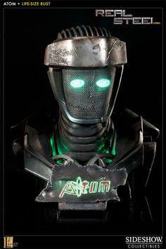 Sideshow Collectibles    Real Steel    Atom 1:1 Life Size Bust    http://www.sideshowtoy.com/?page_id=4489&sku=400185#!prettyPhoto[product_gallery]/0/