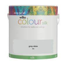 Wilko Silk Emulsion Paint                         Grey Skies 2.5L