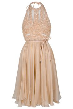 such a flattering shape. Elie Saab halterneck dress. Pink Sequin Dress 34f26c33c330