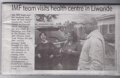 International Monetary Fund (IMF) team visited the Health Centre in Liwonde #HELPchildren #Malawi #Africa #newspaper #HealthCentre