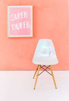Trash to Treasure: How to Turn a Dumpster Find into a DIY Holographic Chair - Paper and Stitch