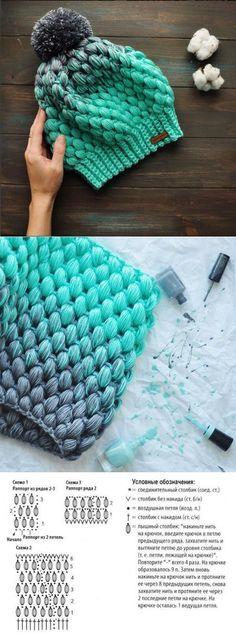 New crochet beanie ideas yarns ideas Crochet Cap, Crochet Beanie, Crochet Gifts, Diy Crochet, Crochet Stitches, Knitted Hats, Knitting Patterns, Crochet Patterns, Diy Hat