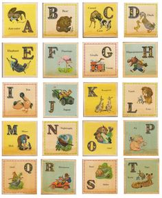 vintage_nursery_alphabet free printable